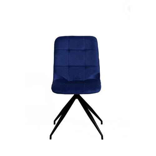 Silla de comedor rosemary azul indigo pack 2 unidades