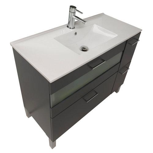 Mueble de baño con lavabo fox gris 100 cm