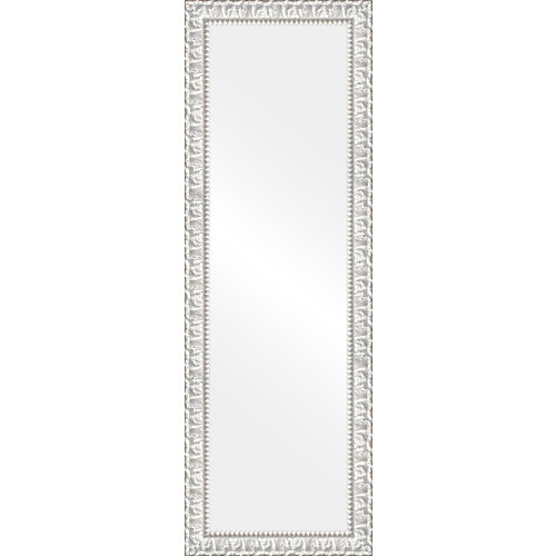 Espejo rectangular sevilla decapado blanco 152 x 50 cm