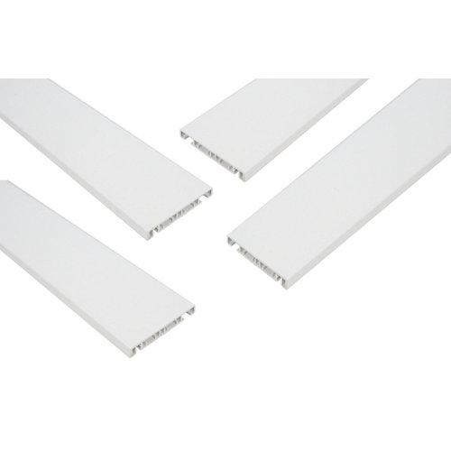 Kit tapajuntas de pvc blanco de 70 mm para ventana de 100x115 cm