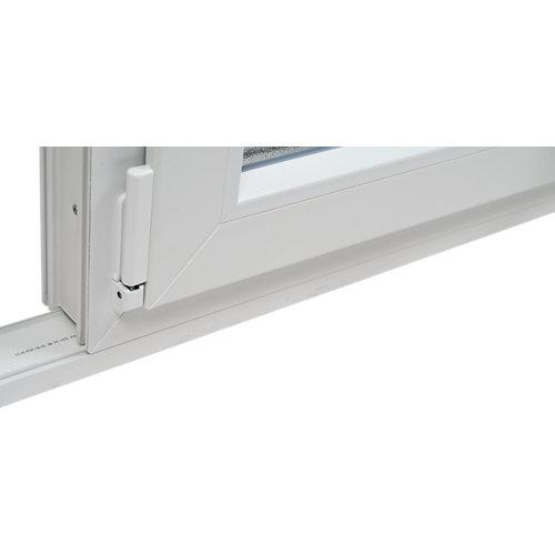 Ensanchador blanco de 3 cm para ventanas de pvc de 72 mm