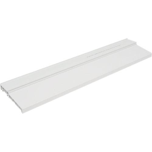Vierteaguas blanco de 14 cm para ventana de pvc de 72 mm