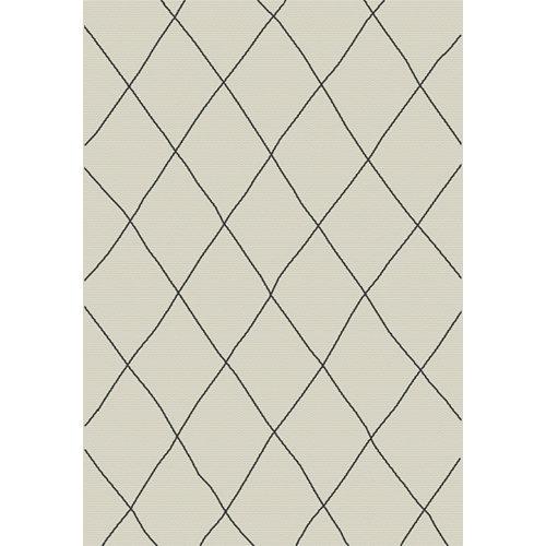 Alfombra de interior y exterior beige polipropileno bereber 160 x 230cm