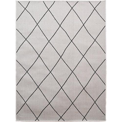 Alfombra de interior y exterior beige polipropileno bereber 120 x 170cm