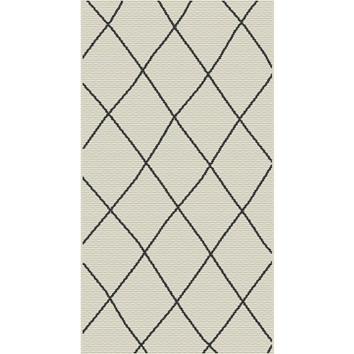 Alfombra de interior y exterior beige polipropileno bereber 60 x 110cm