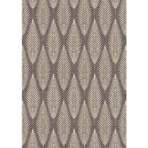 Alfombra de interior y exterior marrón polipropileno rota 120 x 170cm