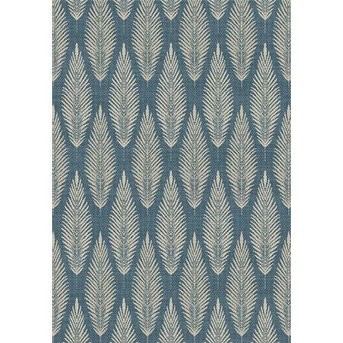 Alfombra de interior y exterior azul polipropileno rota 160 x 230cm