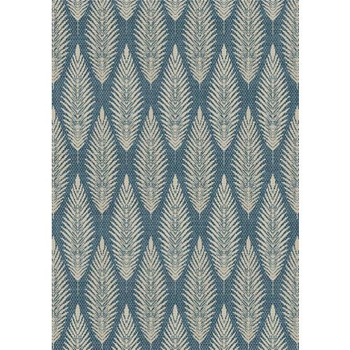 Alfombra de interior y exterior azul polipropileno rota 120 x 170cm