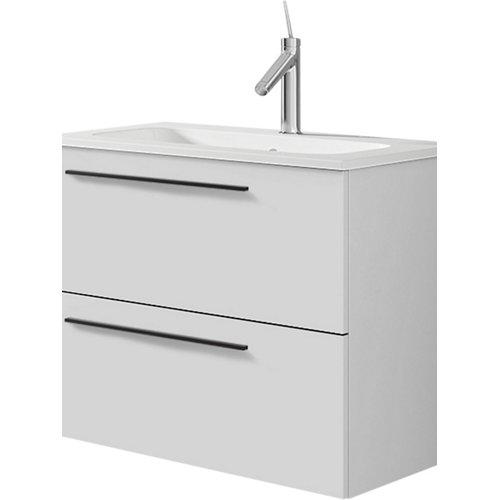 Mueble de baño con lavabo mia blanco mate 60 cm