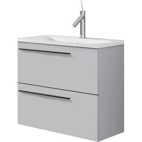 Mueble de baño con lavabo mia gris perla mate 60 cm