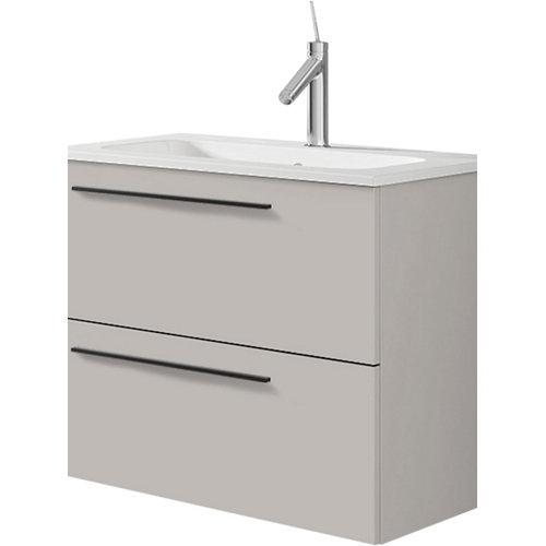 Mueble de baño con lavabo mia beige mate 60 cm