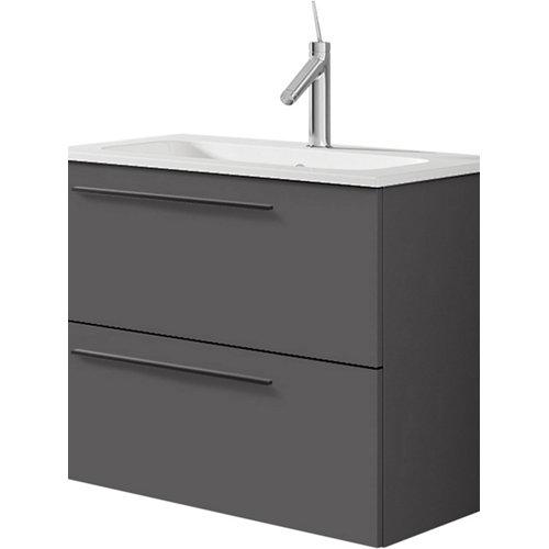 Mueble de baño con lavabo mia antracita mate 60 cm