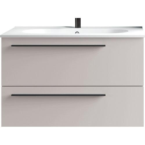Mueble de baño con lavabo mia beige mate 80 cm