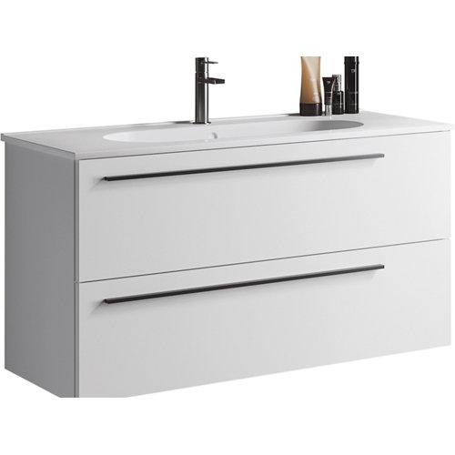 Mueble de baño con lavabo mia blanco mate 100 cm