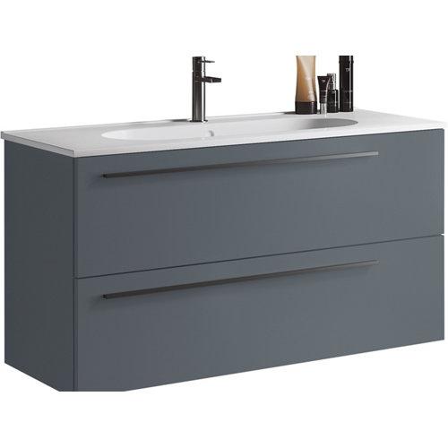 Mueble de baño con lavabo mia azul mate 100 cm