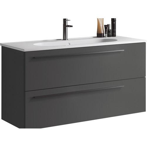 Mueble de baño con lavabo mia antracita mate 100 cm