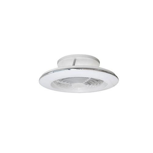 Ventilador de techo con luz led alisio blanco 52.5 cm dc