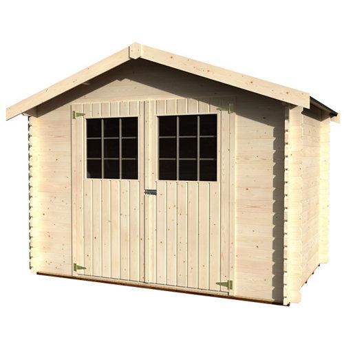 Caseta de madera alsan de 317x232x213 cm y 6.75 m2