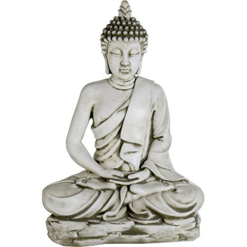 Buda sereno en ceniza