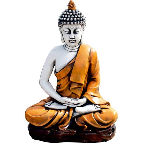Buda sereno en naranja
