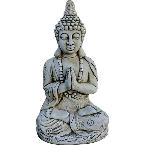 Buda con collar en ceniza