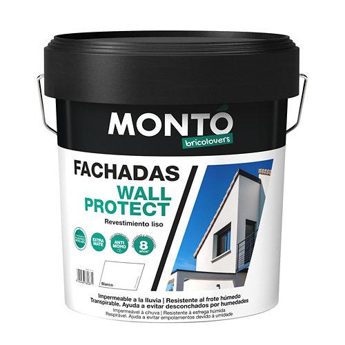 Pintura para fachadas acrílica wall protect montó 4l blanco