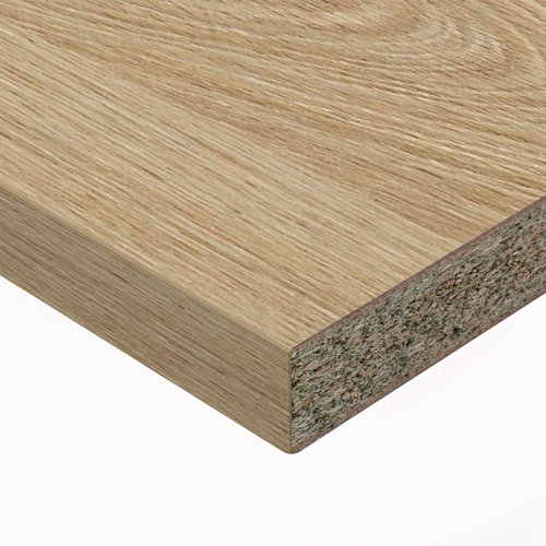 Encimera laminada hidrófuga aspecto madera c003 roble 65 x 315 x 38 mm