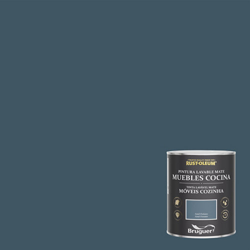 Pintura para muebles rustoleum 750ml azul oceano