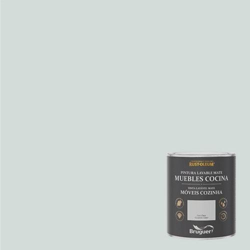 Pintura para muebles rustoleum 750ml gris claro