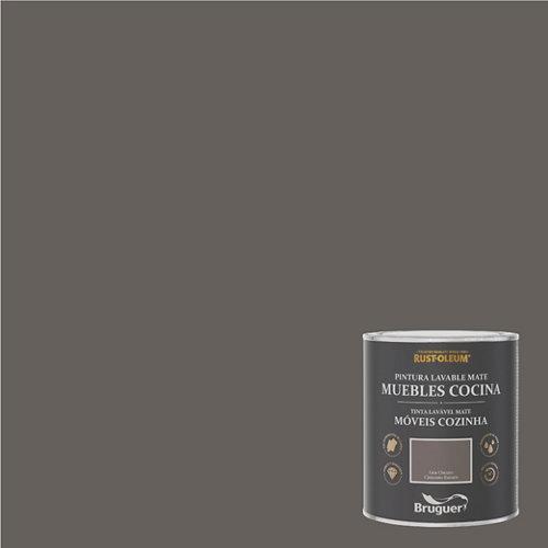 Pintura para muebles rustoleum 750ml gris oscuro