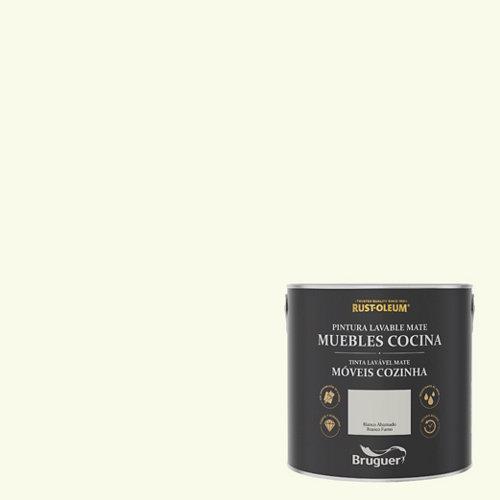 Pintura para muebles rustoleum 2.5l blanco ahumado