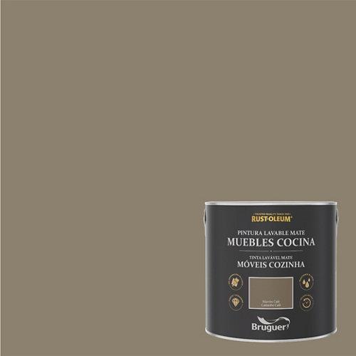 Pintura para muebles rustoleum 2.5l marrón café