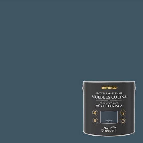 Pintura para muebles rustoleum 2.5l azul oceano