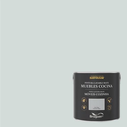 Pintura para muebles rustoleum 2.5l gris claro