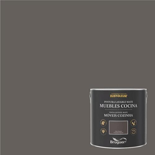 Pintura para muebles rustoleum 2.5l gris oscuro