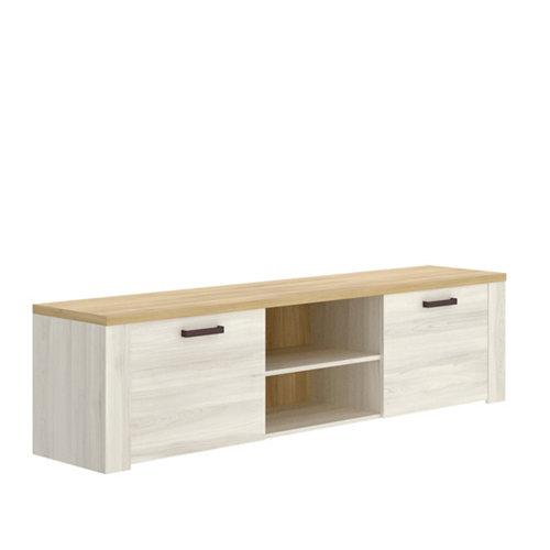Mueble de tv sham roble con 2 puertas 49x180x40 cm