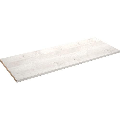 Encimera laminada aspecto madera bohemian madera blanca 63 x 180 x 38 mm