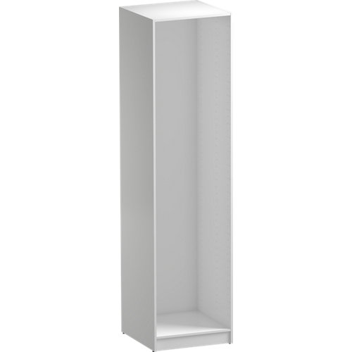 Composición nº60 spaceo home armario kit vestidor sin puertas blanco 240x60x60cm