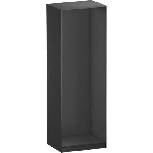 Composición nº81 spaceo home armario kit vestidor sin puertas gris 240x80x60cm