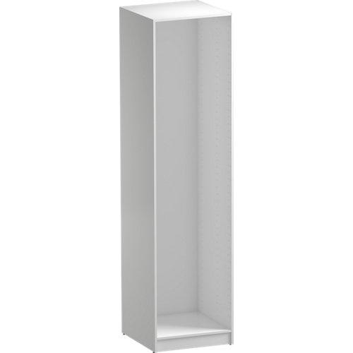 Composición nº85 spaceo home armario kit vestidor sin puertas blanco 240x60x60cm