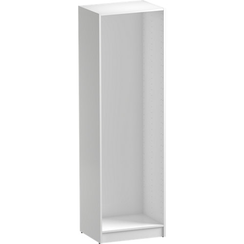 Composición nº87 spaceo home armario kit vestidor sin puertas blanco 200x60x45cm