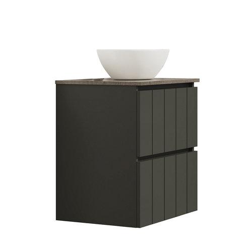 Mueble de baño con lavabo terra gris oscuro 60x45 cm