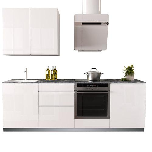 Cocina en kit delinia id con altos tokio blanco brillo 2.40 m