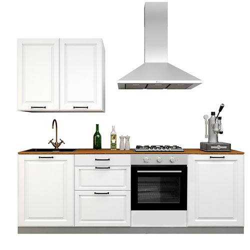 Cocina en kit delinia id con altos oxford blanco 2.40 m