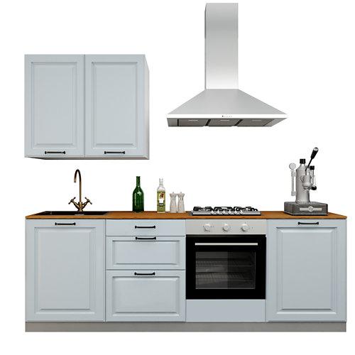 Cocina en kit delinia id con altos oxford azul 2.40 m