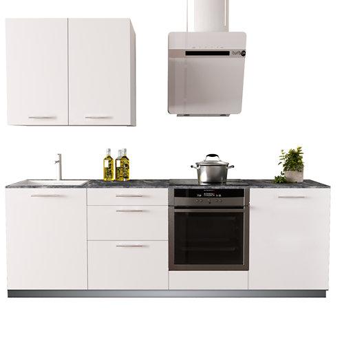 Cocina en kit delinia id con altos sofia blanco 2.40 m