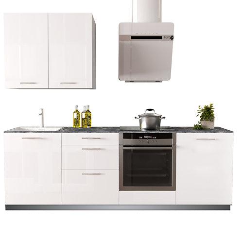 Cocina en kit delinia id con altos sevilla blanco brillo 2.40 m