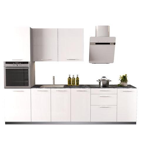 Cocina en kit delinea id con altos sevilla blanco brillo 3.00 m