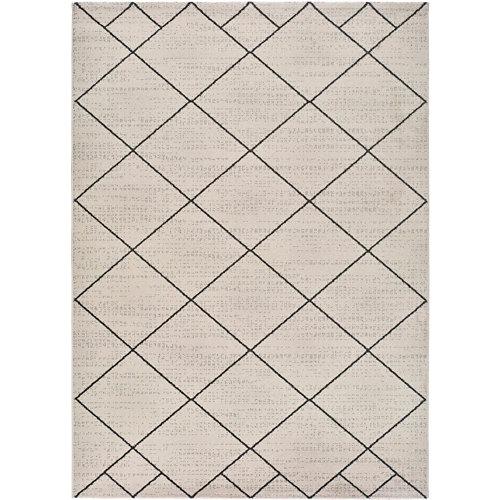 Alfombra de interior blanca polipropileno malika bereber 60 x 120cm