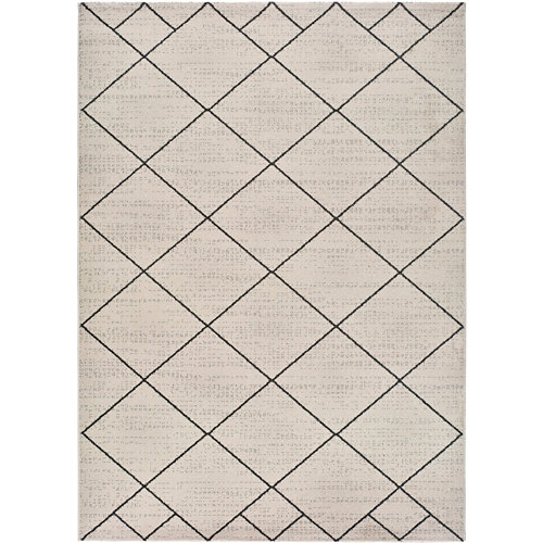 Alfombra de interior blanca polipropileno malika bereber 80 x 150cm